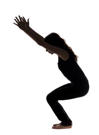 укрепление: Укрепление мышц ног в йоге серии с той же модели доступной Фото со стока