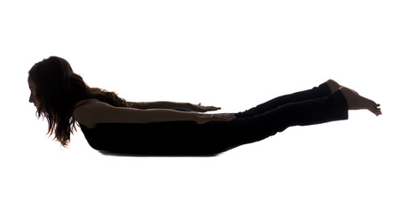 Chest opening and front body stretching in Yoga and or Pilates  Series with the same model available  photo