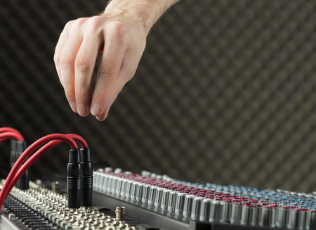 Audio jacks on a studio mixer (Series available) photo