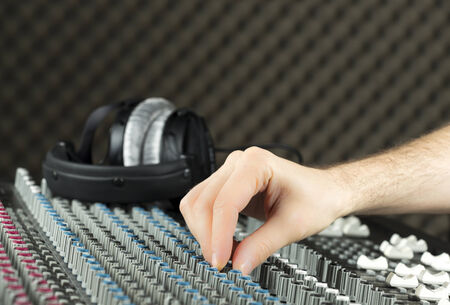 parametric: Adjustment on studio mixer (Series available)) Stock Photo