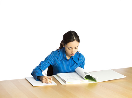 Young Business woman busy at the office  Stock Photo - 26814988