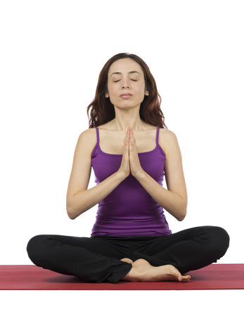 30 34 years: Young woman is meditating