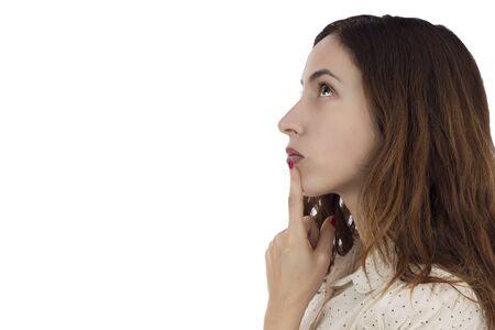 to ponder: Woman deciding