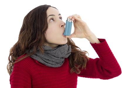 asthma: Inhalador para el asma Foto de archivo