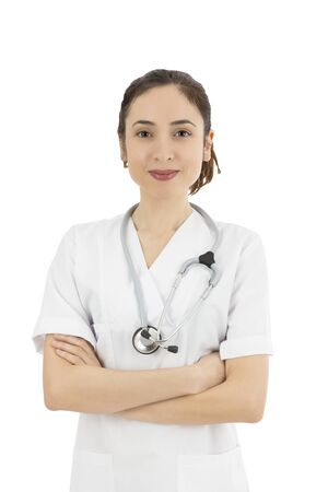 Medical doctor or nurse portrait photo