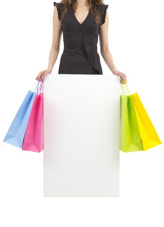 Presenting empty banner for shopping photo
