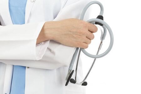 medical people: Doctor holding stethoscope