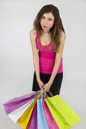 cansancio: Compras mujer agotada