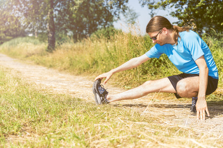 jogger: Jogger stretching
