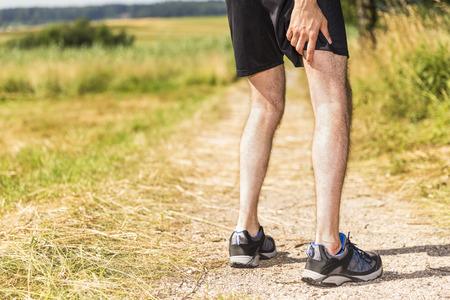 dolor muscular: Basculador tener dolor muscular