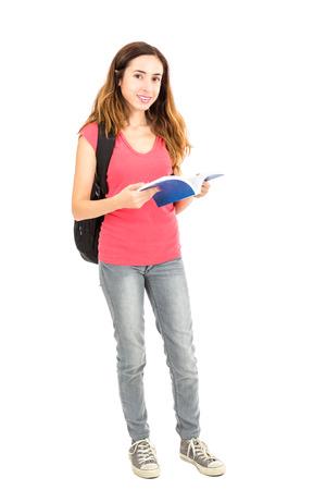 full body: Female student full body Stock Photo