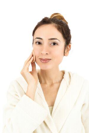 beautycare: Woman doing make-up