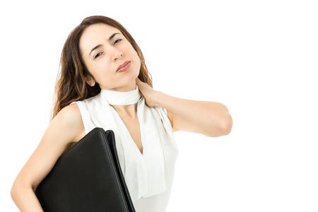cansancio: Mujer de negocios agotado Foto de archivo
