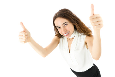 thumbs up business: Thumbs up business woman Stock Photo