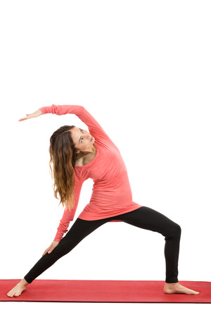 reversed: Woman doing Reversed warrior Pose