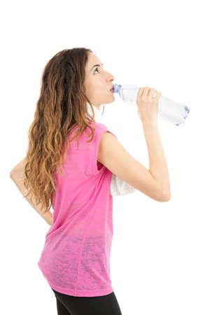or thirsty: Sed mujer despu�s de hacer deporte