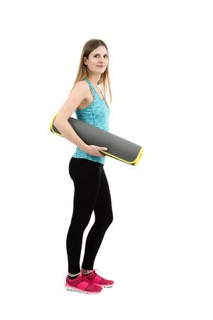 full length: Beautiful fitness girl full length