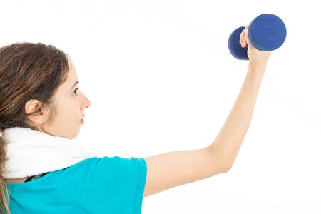 biceps: Woman training her biceps Stock Photo