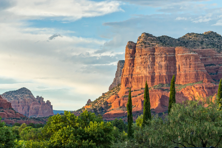 Sunset on Red Rocks in Sedona Editorial