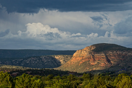 Storm Clouds at Sunset in Sedona