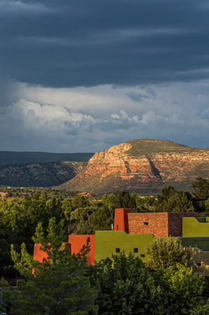 Sedona Landscape Sunset with Storm Clouds