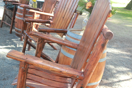 chairs: Chairs outside