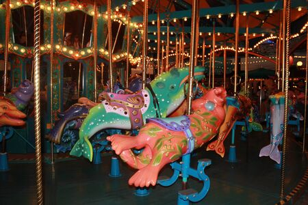 king triton carousel at disney california adventure