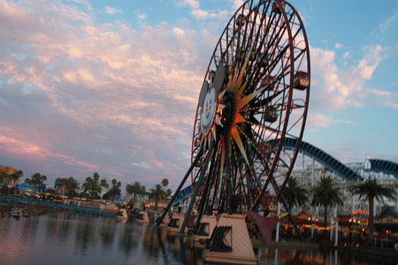mickey's fun wheel at disney california adventure Editorial