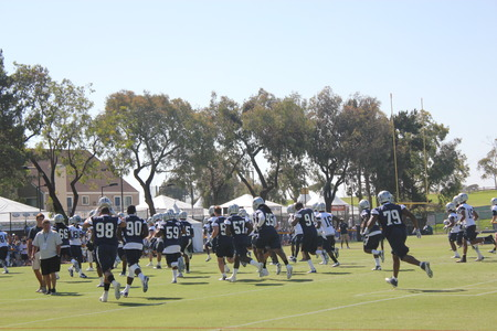 dallas cowboys training camp Stock Photo - 53643157