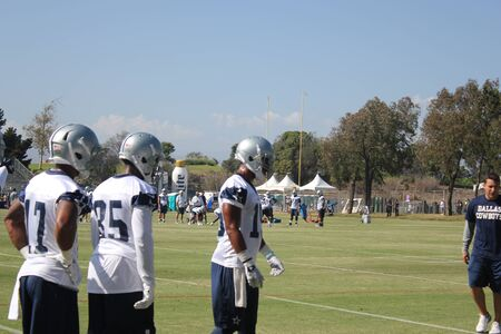 dallas cowboys training camp Stock Photo - 53643160