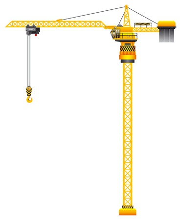 tower crane: Construction tower crane vector illustration Illustration