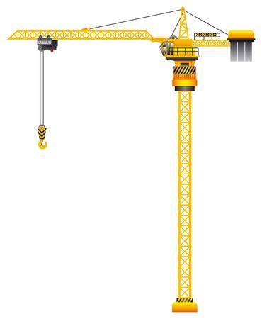 scaffold: Construction tower crane vector illustration Illustration