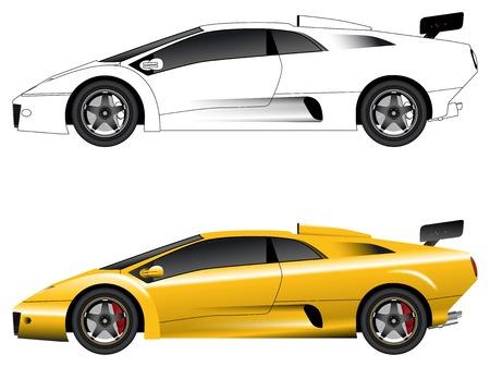 Algemene sport wagen vector illustratie  Stock Illustratie