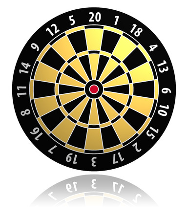 strive: Dartboard vector illustration