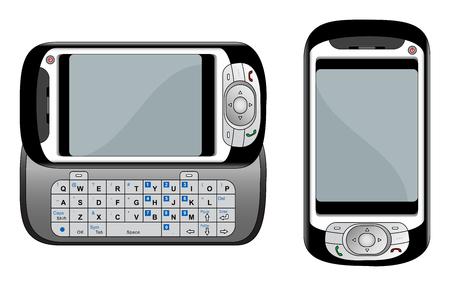 agenda electr�nica: Gen�rico PDA tel�fono m�vil ilustraci�n vectorial Vectores