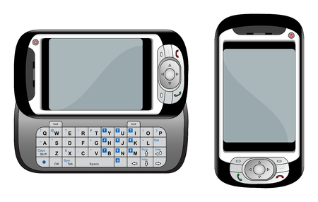 pda: Generic PDA mobile phone vector illustration