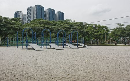 Flying fox playground