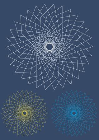 Computer gegenereerd bloem van herhalings patroon. Vector.