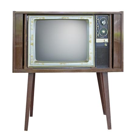 Retro style old TV photo