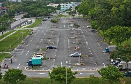 Open air carpark in Parsir Ris opposite Downtown East