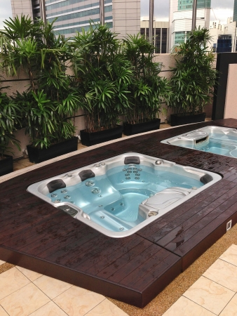Outdoor Jacuzzi in the City