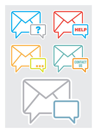 Contact us, feedback web icon