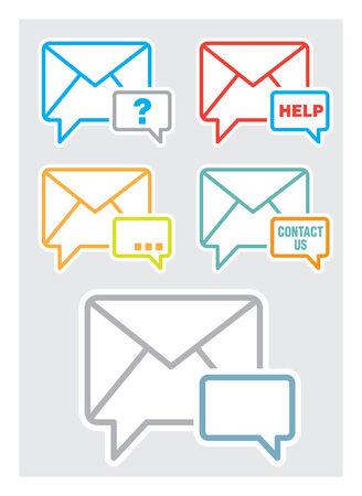 Neem contact met ons op, feedback web pictogram