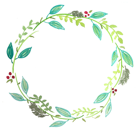 Floral water colour wreath