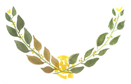 Floral water colour laural Stock Illustratie