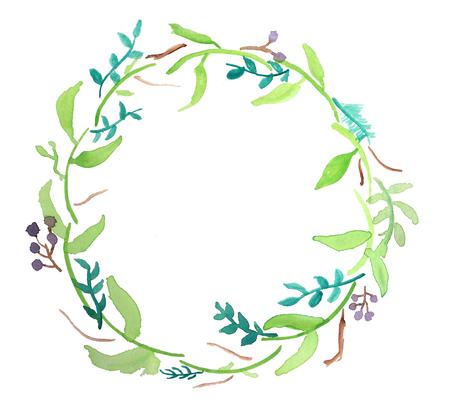 Floral water colour wreath
