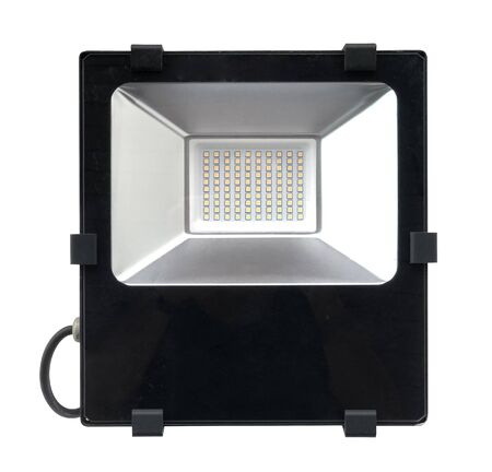 DIrect front view of a LED floodlight