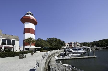 Harbour Town Lighthouse, Hilton Head Island, South Carolina Stok Fotoğraf
