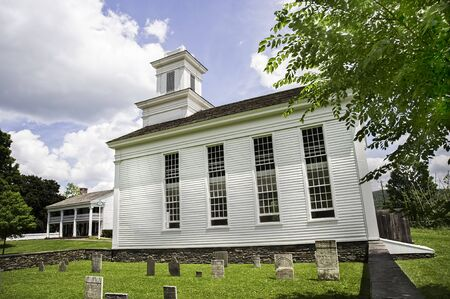 Cornwallville Church, built in 1795, in the historic village at Farmers