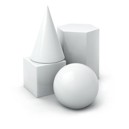 zylinder: grundlegende geometrische 3D-Formen Illustration